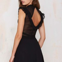 Nasty Gal Francois Ruffle Dress