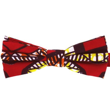 Tok Tok Designs Baby Bow Tie for 14 Months or Up (BK386, Genuine African Wax Fabric)