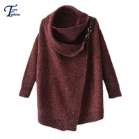 Sweaters Fall Fashion Brand Designer Novelty Women's Clothing New Red Lapel Long Sleeve Ouch Casual Cardigan Sweater