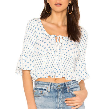 Free People A Bit Of Something Sweet Top in White Combo