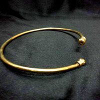 brass gold  Armlet, Arm Cuff, Upper Arm cuff,  simple and sober armlet, gypsy armlet, hammered armlet, solid brass, tribal