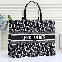 Dior Women Shopping Bag Leather Tote Handbag Shoulder Bag