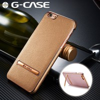 iPhone 6 Plus/6s Plus Case G-CASE Plating Gold Shockproof PU Leather Ultra Thin ...