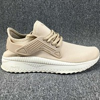 PUMA  Thicken, knit, mesh, fashion, sport shoes L-CSXY Beige