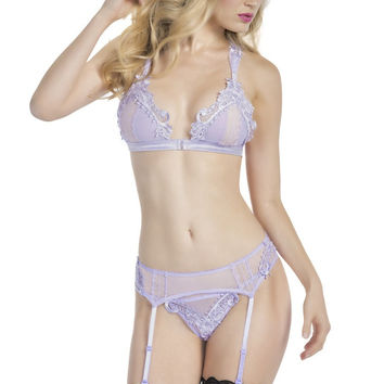 Sassy Bralette with Panty and Garterbelt