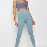 Hannah High Waist Basic Jersey Leggings | Boohoo