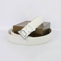Perfect Dolce&Gabbana Woman Men Fashion Smooth Buckle Belt Leather Belt