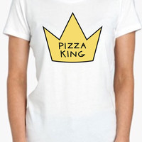 Pizza King Heart Drawing Tshirt Screenprinted Apparel Brandy Melville Inspired Design Clothing Unisex Adults Women Tees