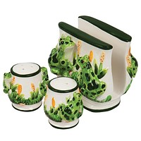 Frogs In Pond Three-Piece Table Set