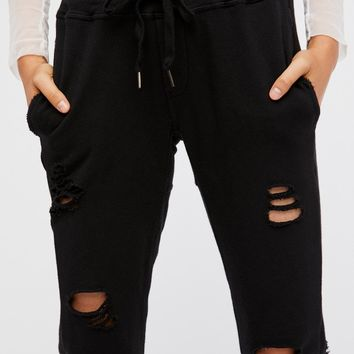 Free People Sayde Destroyed Jogger