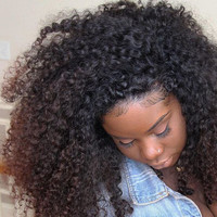 """8A Lace Front Human Hair Wigs 130% Malaysian Kinky Curly Frontal Lace Wigs 8-24"""" Full Lace Human Hair Wigs"""