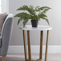 Marble & Brass Bedside Table