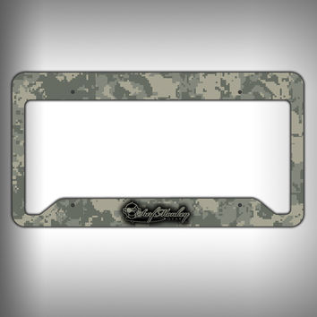 Camo Custom Licence Plate Frame Holder Personalized Car Accessories