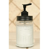 Hoosier Glass Lotion Jar and Dispenser