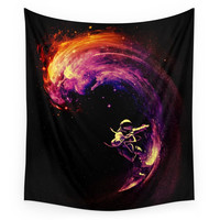 Society6 Space Surfing Wall Tapestry
