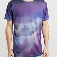 ABOVE CLOUDS SKATER T-SHIRT
