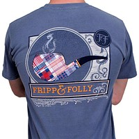 Signature Pipe Tee in Blue Jean by Fripp & Folly
