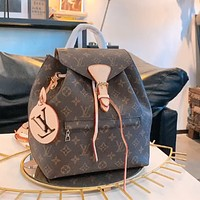 LV Louis Vuitton high-quality canvas large-capacity backpack