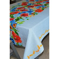 """Cotton tablecloth """"Wildflowers""""."""
