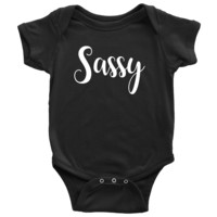 Sassy - Matching Baby Onesuit with Mom