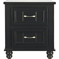 Cottage Colors Black Nightstand