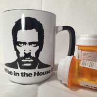 Gregory House MD TV show, funny House coffee mug, coffee in the house, from television show