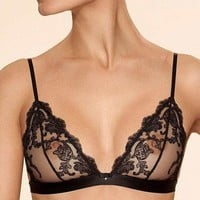 Soft Sheer Lace Triangle Bra Ajour Elegy