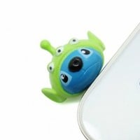 Disney - New 3D Stitch in 3 Eyes Alien 3.5mm Headphone Anti-Dust Plug Cap for iPhone 4 4S Samsung HTC