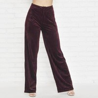 Velvet Romance Pants In Wine