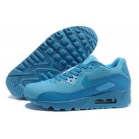Tagre™ Men s Women s Nike Air Max 90 PRM EM Lake Blue Running Shoes