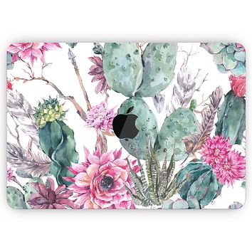 """Summer Watercolor Floral v2 - Skin Decal Wrap Kit Compatible with the Apple MacBook Pro, Pro with Touch Bar or Air (11"""", 12"""", 13"""", 15"""" & 16"""" - All Versions Available)"""