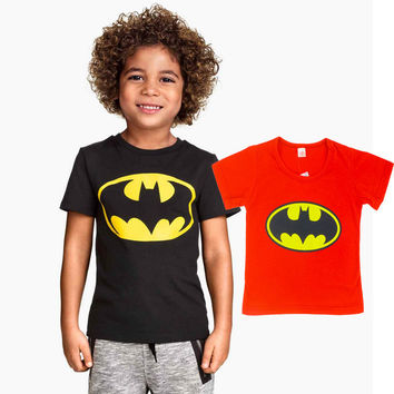 2015 Children T Shirt Batman Cotton Short Sleeve T-Shirts For Boys