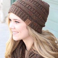 C.C.: Speckled Beanie {New Olive}