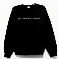 Internally Screaming Graphic Print Unisex Sweatshirt