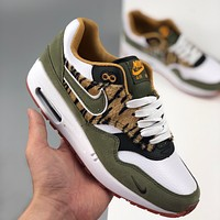 Nike Air Max 1 Leopard Print Low-Top Flat Running Shoes