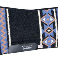 Professional's Choice SMx H.D. Air Ride Saddle Pad Black & Royal Santa Fe CXHDFS 33x38