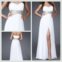 Glamorous A-line Empire Chiffon Prom Dresses/Graduation Dresses from sweetheart dresses