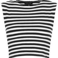 Stripe Stretch Crop Top - New In This Week  - New In