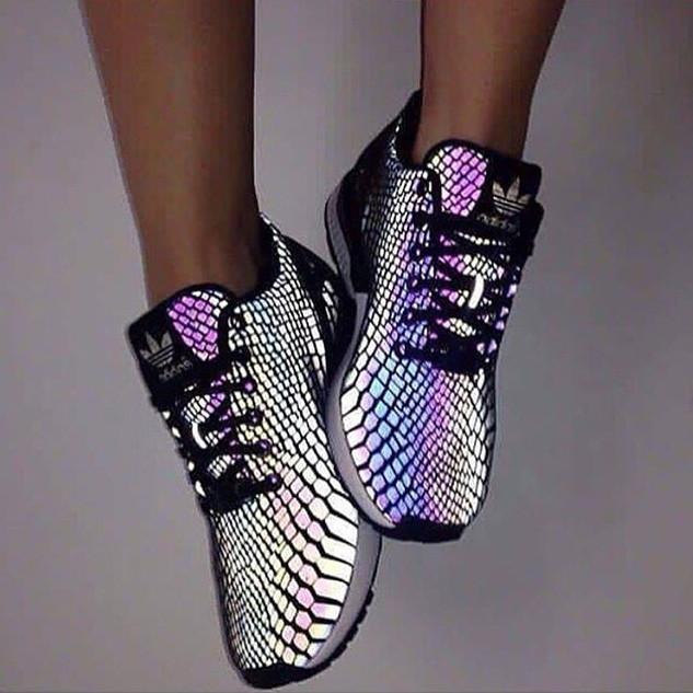 """Image of Fashion """"Adidas"""" Chameleon Reflective Sneakers Sport Shoes"""