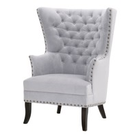 Bristol Club Chair Fog Velvet