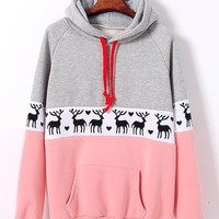 Fashion hedging long-sleeved fleece sweater XF1201F (Pink)