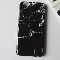 Black marble mobile phone case for iPhone 7 7 plus  iphone 5 5s SE 6 6s 6 plus 6s plus + Nice gift box 71501