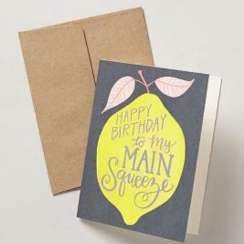 1canoe2 Main Squeeze Birthday Card in Yellow Size: One Size Books