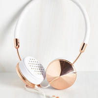 Music You Heard the Glam Headphones in Rose Gold by ModCloth