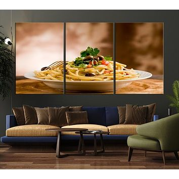76164 - Italian Spaghetti Pasta Canvas Print for Restaurants and Pubs