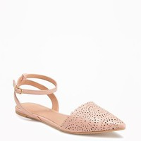 Laser-Cut D'Orsay Flats for Women | Old Navy