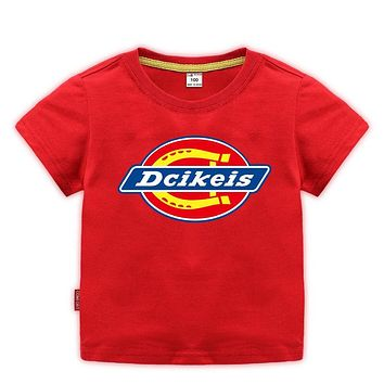 Girls  boys Big Short Sleeve Summer dickeis  90cm-170cm