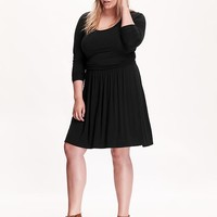 Old Navy Womens Plus Side Shirred Jersey Dress