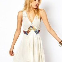 Free People Light Heart Dress with Braided Band at asos.com