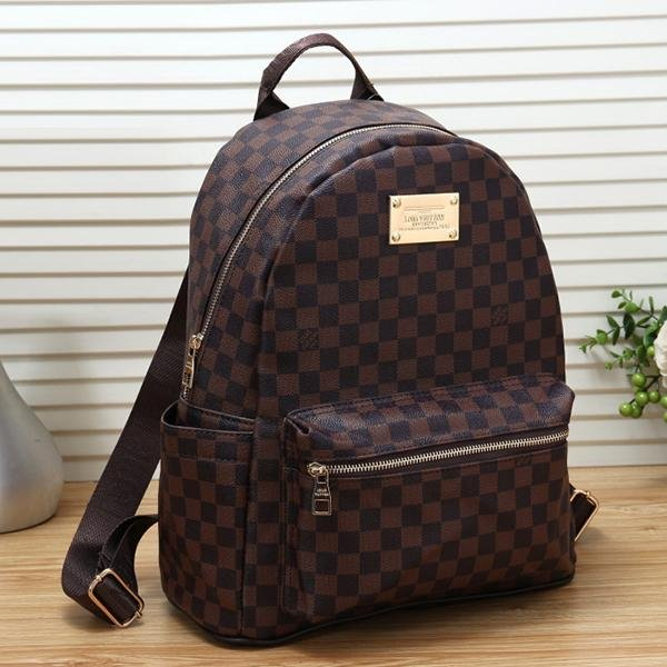 Image of Louis Vuitton LV Women Casual School Bag Cowhide Leather Backpack